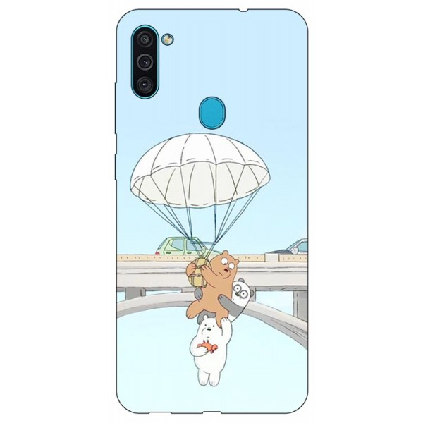 Husa Silicon Soft Upzz Print Samsung Galaxy M11 Three Bears imagine itelmobile.ro 2021