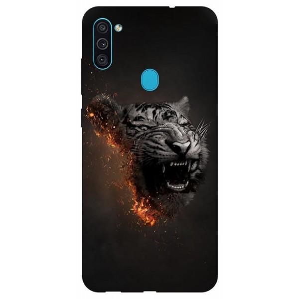 Husa Silicon Soft Upzz Print Samsung Galaxy M11 Tiger imagine itelmobile.ro 2021