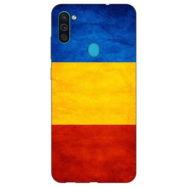 Husa Silicon Soft Upzz Print Samsung Galaxy M11 Tricolor imagine itelmobile.ro 2021