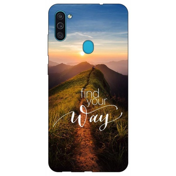Husa Silicon Soft Upzz Print Samsung Galaxy M11 Way imagine itelmobile.ro 2021