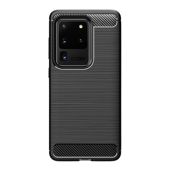 Husa Spate Upzz Carbon Pro Samsung Galaxy S20 Ultra Negru imagine itelmobile.ro 2021
