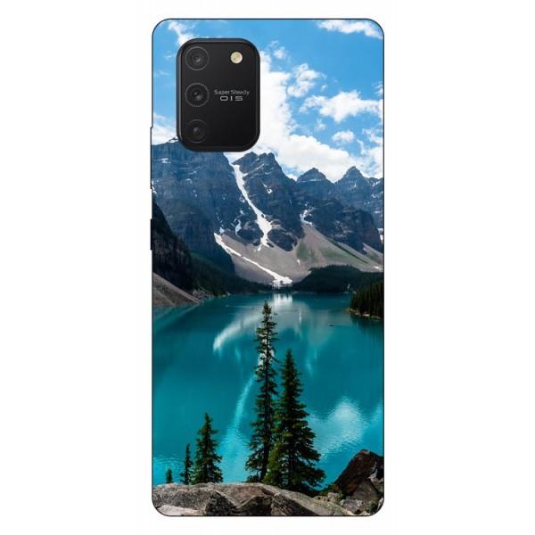 Husa Silicon Soft Upzz Print Samsung Galaxy S10 Lite Model Blue imagine itelmobile.ro 2021