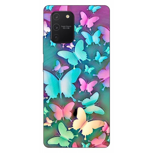 Husa Silicon Soft Upzz Print Samsung Galaxy S10 Lite Model Colorfull Butterflies imagine itelmobile.ro 2021