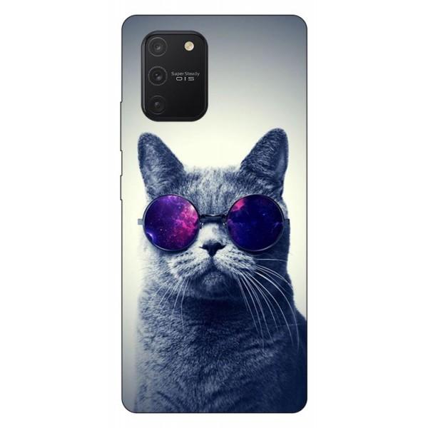 Husa Silicon Soft Upzz Print Samsung Galaxy S10 Lite Model Cool Cat imagine itelmobile.ro 2021