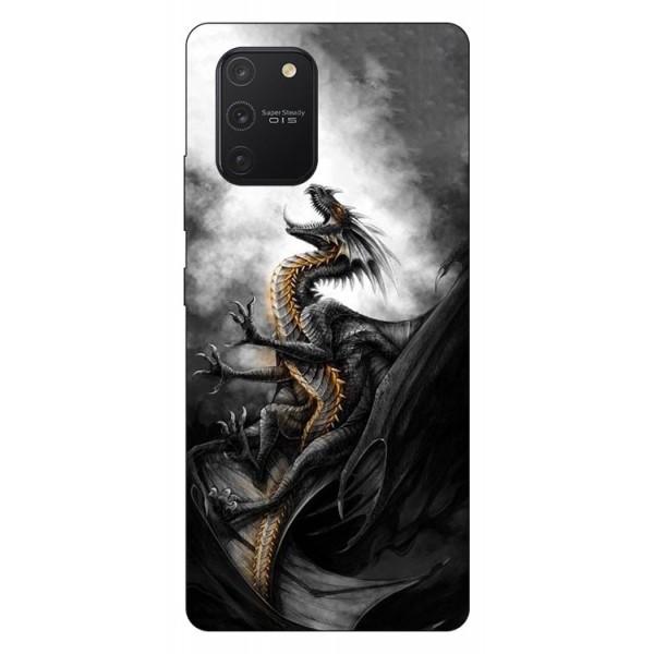 Husa Silicon Soft Upzz Print Samsung Galaxy S10 Lite Model Dragon1 imagine itelmobile.ro 2021