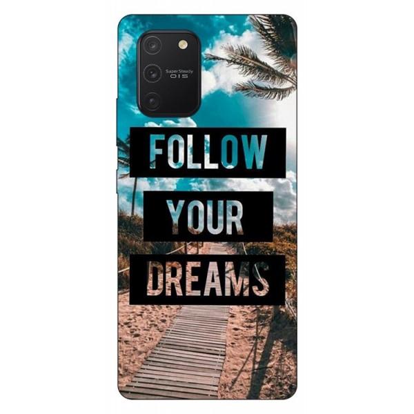 Husa Silicon Soft Upzz Print Samsung Galaxy S10 Lite Model Dreams imagine itelmobile.ro 2021