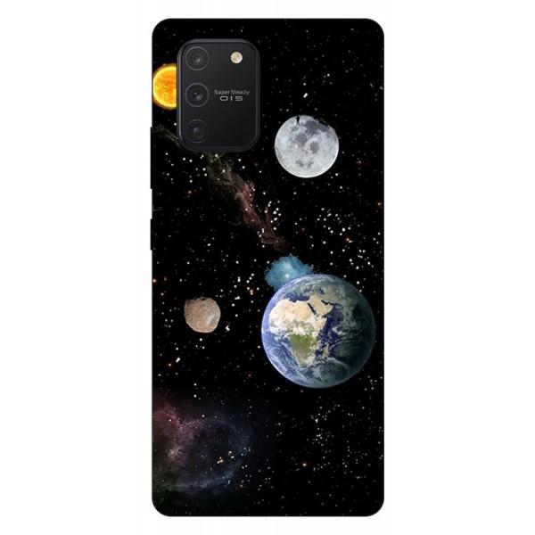 Husa Silicon Soft Upzz Print Samsung Galaxy S10 Lite Model Earth imagine itelmobile.ro 2021