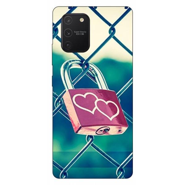 Husa Silicon Soft Upzz Print Samsung Galaxy S10 Lite Model Heart Lock imagine itelmobile.ro 2021
