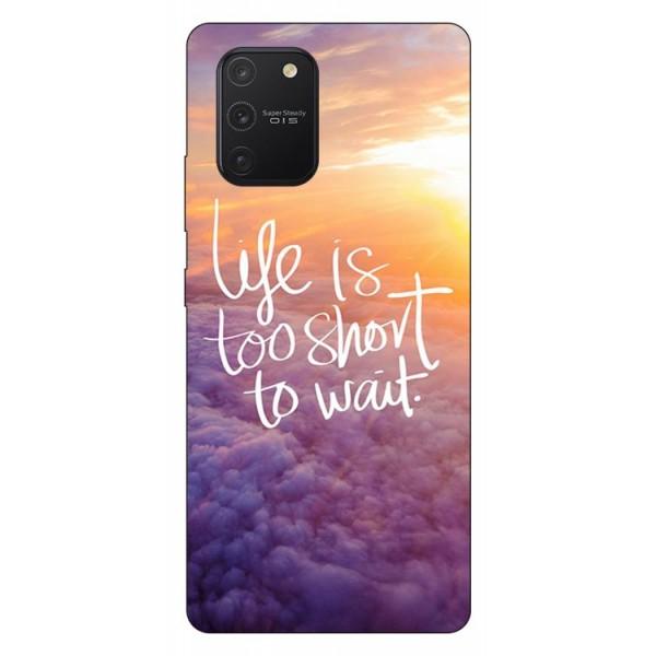Husa Silicon Soft Upzz Print Samsung Galaxy S10 Lite Model Life imagine itelmobile.ro 2021