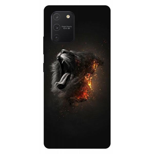 Husa Silicon Soft Upzz Print Samsung Galaxy S10 Lite Model Lion imagine itelmobile.ro 2021