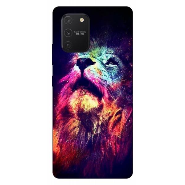 Husa Silicon Soft Upzz Print Samsung Galaxy S10 Lite Model Neon Lion imagine itelmobile.ro 2021