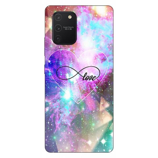Husa Silicon Soft Upzz Print Samsung Galaxy S10 Lite Model Neon Love imagine itelmobile.ro 2021
