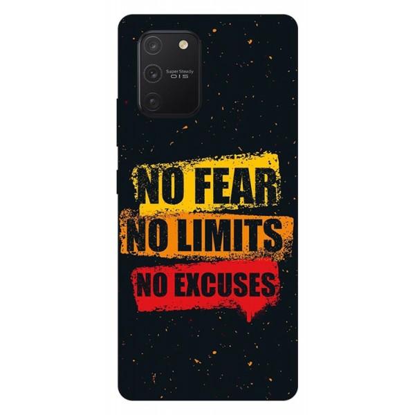Husa Silicon Soft Upzz Print Samsung Galaxy S10 Lite Model No Fear imagine itelmobile.ro 2021