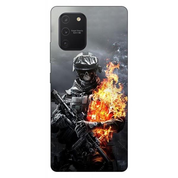 Husa Silicon Soft Upzz Print Samsung Galaxy S10 Lite Model Soldier imagine itelmobile.ro 2021