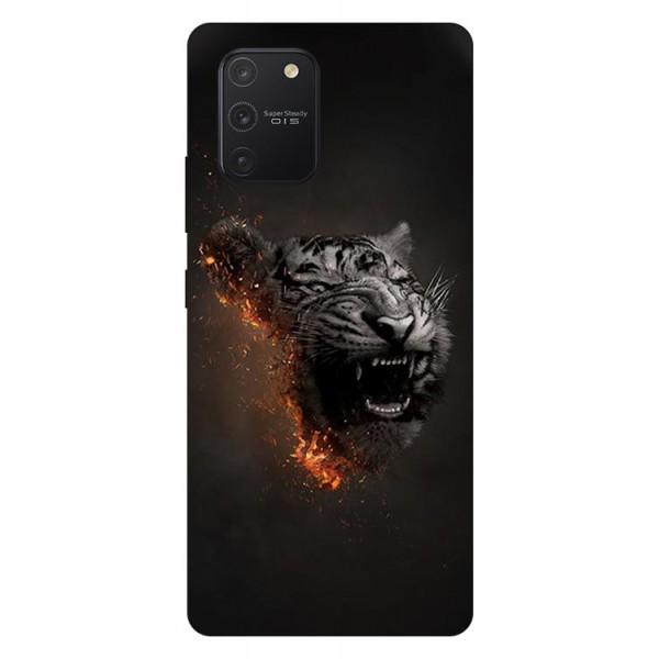 Husa Silicon Soft Upzz Print Samsung Galaxy S10 Lite Model Tiger imagine itelmobile.ro 2021
