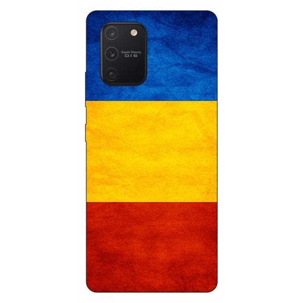 Husa Silicon Soft Upzz Print Samsung Galaxy S10 Lite Model Tricolor imagine itelmobile.ro 2021