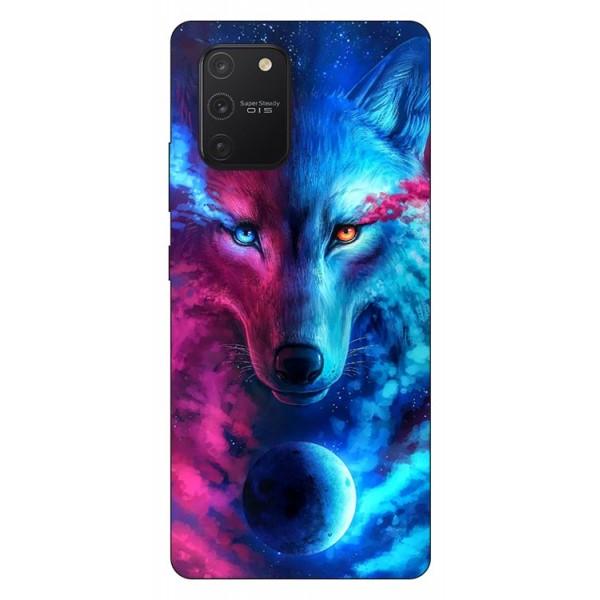 Husa Silicon Soft Upzz Print Samsung Galaxy S10 Lite Model Wolf imagine itelmobile.ro 2021