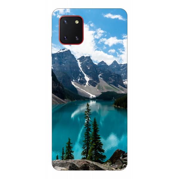 Husa Silicon Soft Upzz Print Samsung Galaxy Note 10 Lite Model Blue imagine itelmobile.ro 2021
