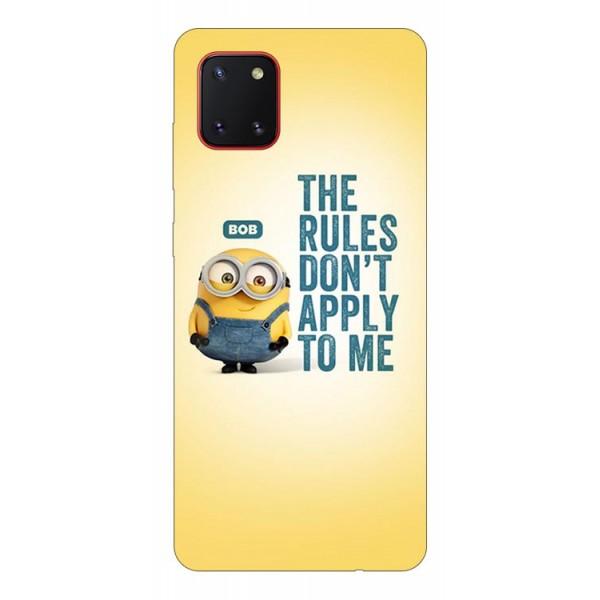 Husa Silicon Soft Upzz Print Samsung Galaxy Note 10 Lite Model Bob imagine itelmobile.ro 2021