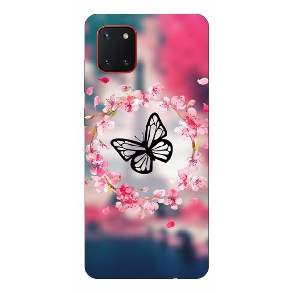 Husa Silicon Soft Upzz Print Samsung Galaxy Note 10 Lite Model Butterfly imagine itelmobile.ro 2021
