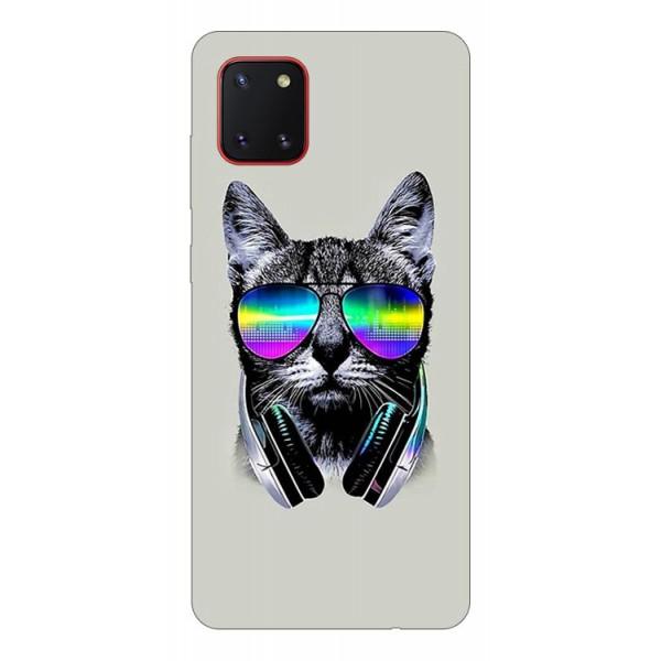 Husa Silicon Soft Upzz Print Samsung Galaxy Note 10 Lite Model Cat imagine itelmobile.ro 2021