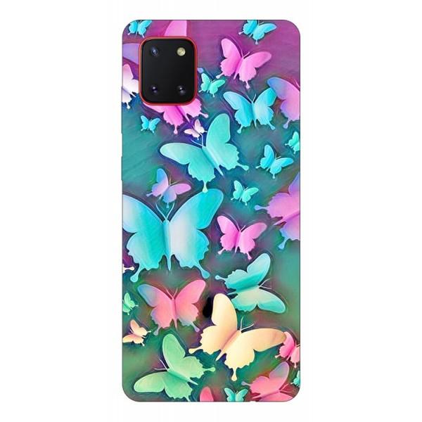 Husa Silicon Soft Upzz Print Samsung Galaxy Note 10 Lite Model Colorfull Butterflies imagine itelmobile.ro 2021