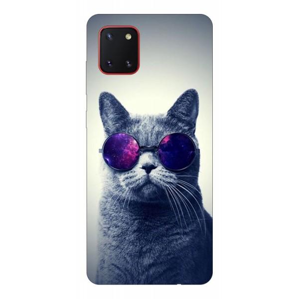 Husa Silicon Soft Upzz Print Samsung Galaxy Note 10 Lite Model Cool Cat imagine itelmobile.ro 2021