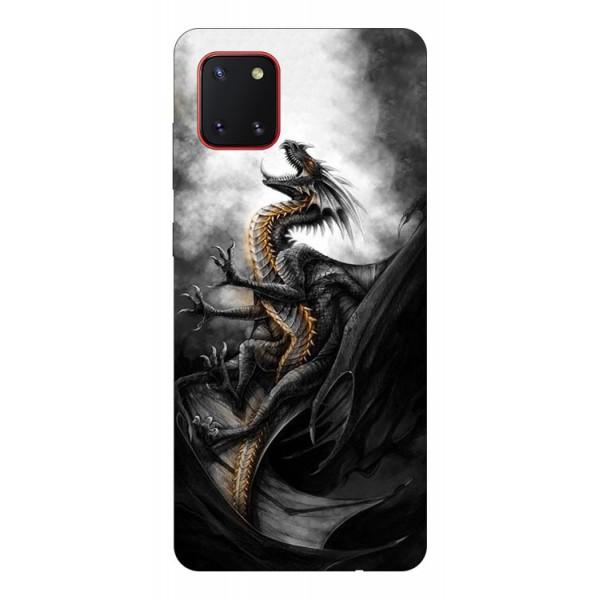 Husa Silicon Soft Upzz Print Samsung Galaxy Note 10 Lite Model Dragon 1 imagine itelmobile.ro 2021