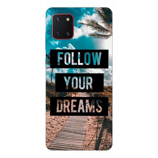 Husa Silicon Soft Upzz Print Samsung Galaxy Note 10 Lite Model Dreams imagine itelmobile.ro 2021