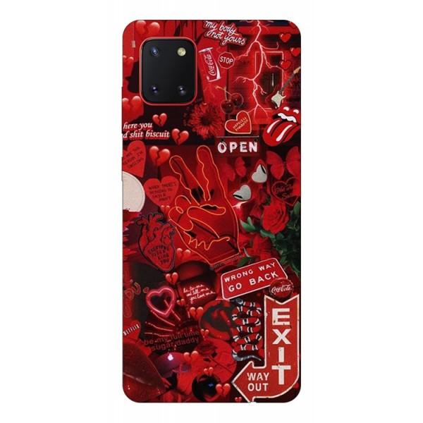 Husa Silicon Soft Upzz Print Samsung Galaxy Note 10 Lite Model Exit imagine itelmobile.ro 2021