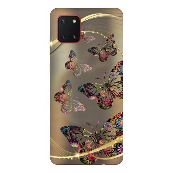 Husa Silicon Soft Upzz Print Samsung Galaxy Note 10 Lite Model Golden Butterfly imagine itelmobile.ro 2021