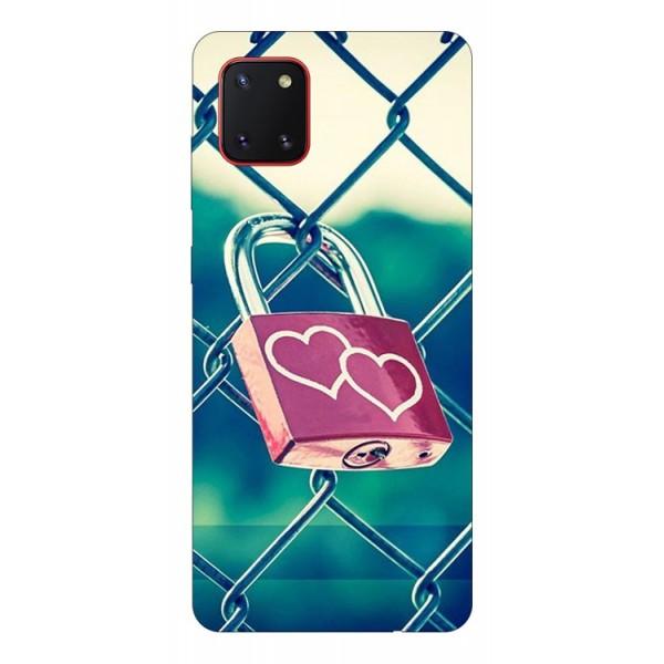 Husa Silicon Soft Upzz Print Samsung Galaxy Note 10 Lite Model Heart Lock imagine itelmobile.ro 2021