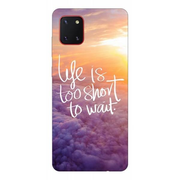 Husa Silicon Soft Upzz Print Samsung Galaxy Note 10 Lite Model Life imagine itelmobile.ro 2021