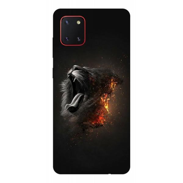 Husa Silicon Soft Upzz Print Samsung Galaxy Note 10 Lite Model Lion imagine itelmobile.ro 2021