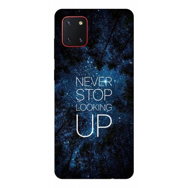 Husa Silicon Soft Upzz Print Samsung Galaxy Note 10 Lite Model Never Stop imagine itelmobile.ro 2021