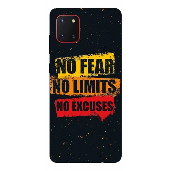 Husa Silicon Soft Upzz Print Samsung Galaxy Note 10 Lite Model No Fear imagine itelmobile.ro 2021