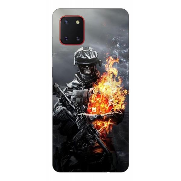 Husa Silicon Soft Upzz Print Samsung Galaxy Note 10 Lite Model Soldier imagine itelmobile.ro 2021