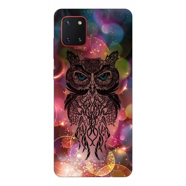 Husa Silicon Soft Upzz Print Samsung Galaxy Note 10 Lite Model Sparkle Owl imagine itelmobile.ro 2021