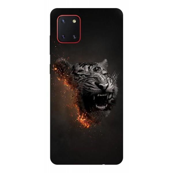 Husa Silicon Soft Upzz Print Samsung Galaxy Note 10 Lite Model Tiger imagine itelmobile.ro 2021
