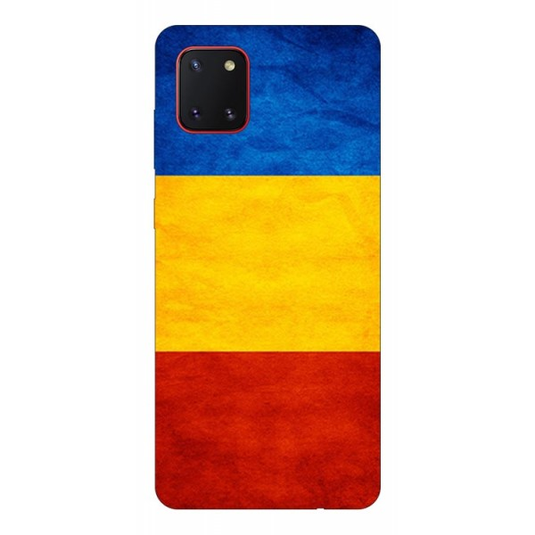 Husa Silicon Soft Upzz Print Samsung Galaxy Note 10 Lite Model Tricolor imagine itelmobile.ro 2021