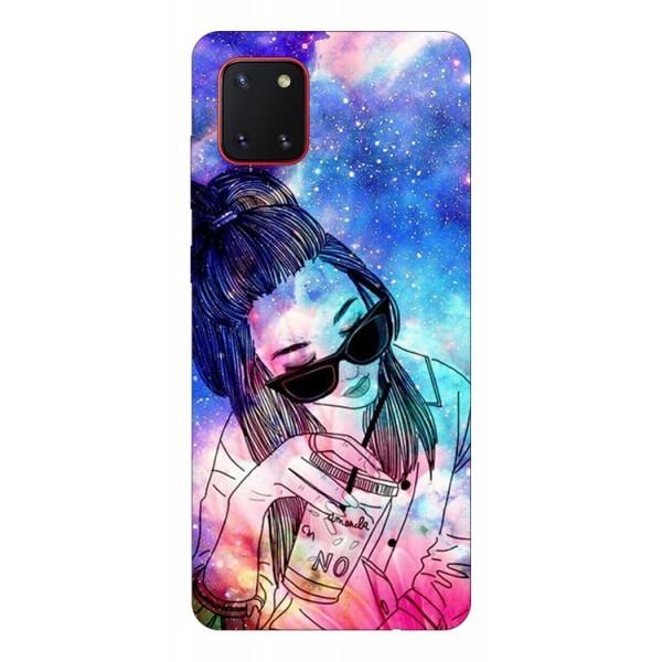 Husa Silicon Soft Upzz Print Samsung Galaxy Note 10 Lite Model Universe Girl imagine itelmobile.ro 2021