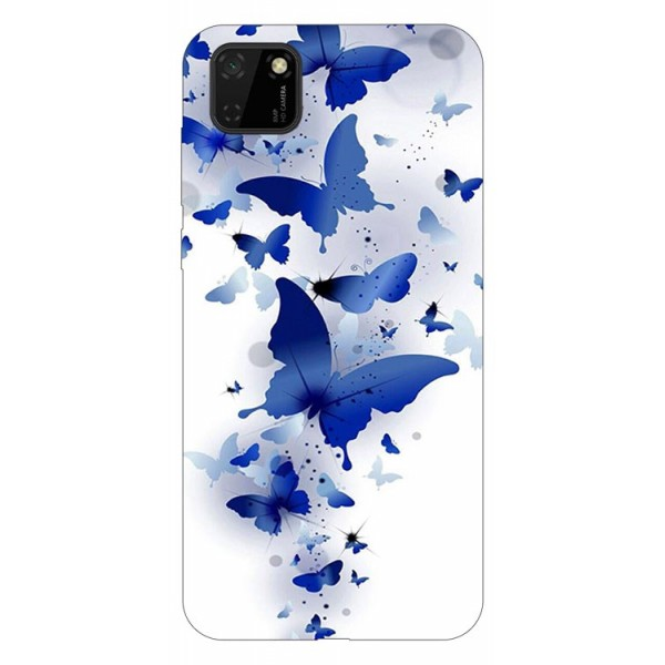 Husa Silicon Soft Upzz Print Huawei Y5p Model Blue Butterflies imagine itelmobile.ro 2021