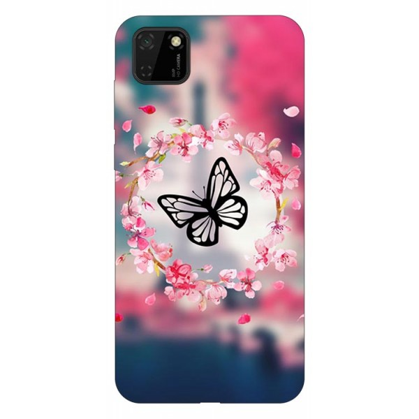 Husa Silicon Soft Upzz Print Huawei Y5p Model Butterfly imagine itelmobile.ro 2021