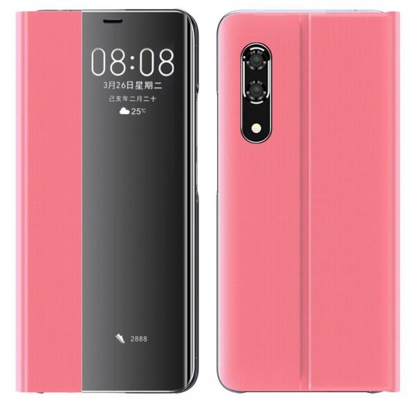 Husa Flip Cover Smart Sleep Upzz Compatibila Cu Huawei P30 Pro ,roz imagine itelmobile.ro 2021