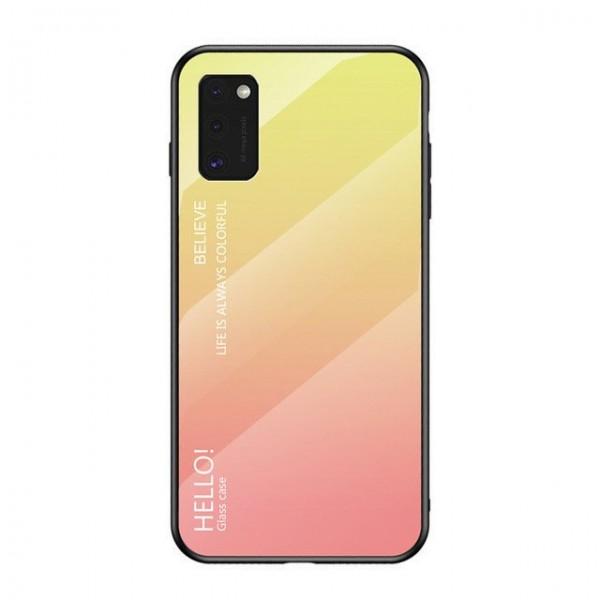 Husa Spate Upzz Gradient Glass Pentru Samsung Galaxy A41 ,spate Sticla Rezistenta , Roz imagine itelmobile.ro 2021