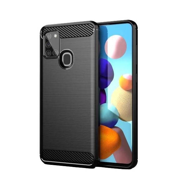 Husa Spate Upzz Carbon Samsung Galaxy A41 -negru ,antishock imagine itelmobile.ro 2021