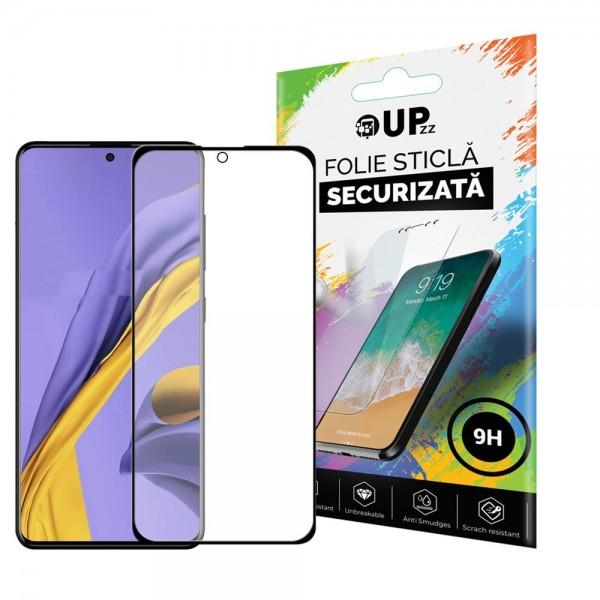 Folie Sticla Full Cover Full Glue Upzz Compatibila Cu Samsung Galaxy A31 Cu Adeziv Pe Toata Suprafata Foliei Neagra imagine itelmobile.ro 2021