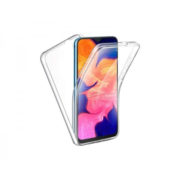 Husa 360 Grade Full Cover Upzz Case Silicon Compatibila Cu Xiaomi Mi 10 / Mi 10 Pro, Transparenta imagine itelmobile.ro 2021