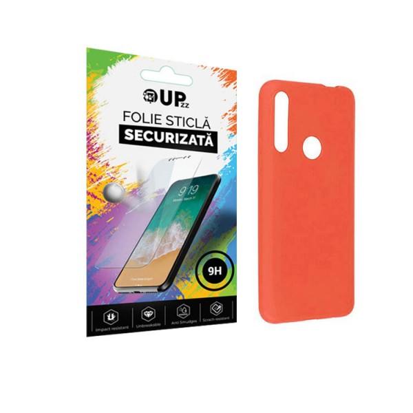 Pachet Husa Premium Upzz Liquid Silicon Pentru Huawei Y6p Cu Invelis Alcantara La Interior , Roz + Folie Sticla Upzz Glass imagine itelmobile.ro 2021