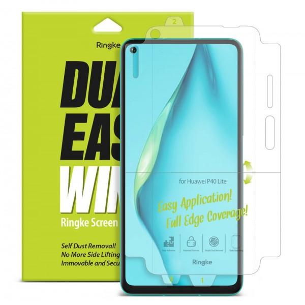 Folie Premium Full Cover Ringke Dual Easy Huawei P40 Lite Transparenta -2 Bucati In Pachet imagine itelmobile.ro 2021